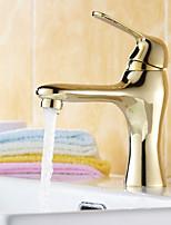 17 * 6 * 21 de cobre escovado água fria e quente torneira da pia