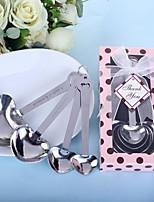 El amor más allá de cucharas de medida en Polka Dot caja de regalo color de rosa