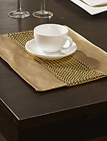 Set of 4 Bead Embellished Placemats