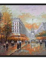 Landscape Eiffel Tower  Framed Oil Painting