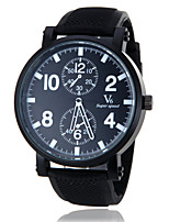 Men's Sport Watch Quartz Japanese Quartz Band Black Brand V6