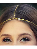 Ethnic Chain With Little Bling Decoration Gold Alloy Headbands For Women(1 Pc)