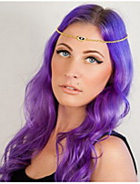 Ethnic Chain With Eye Shape Gem  Gold Alloy Headbands For Women(1 Pc)