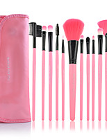 MAKE-UP FOR YOU 12PCS Pink Professional Makeup Brush Set