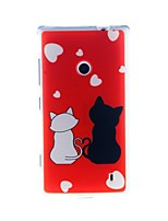 Kinston Romantic Cat Pattern TPU Soft Case for Nokia Lumia 520