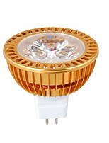MR16 3W Dimmable 1W × 3LEDs 270-300LM 3000-3500K  Ampoule LED blanche chaud Spot (DC12V)