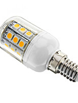 E14/E26/E27 3 W 27 SMD 5050 350 LM Warm White Dimmable Corn Bulbs AC 110-130 V