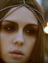 Ethnic duas camadas Corrente Com Tessel liga de ouro Headbands Para Mulheres (Gold, Sliver) (1 Pc)