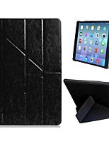 Superb Quality Quad-fold Faux Leather Flip Case with Stand for iPad Air (Assorted Colors)