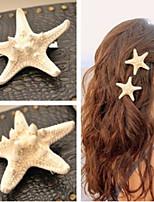 Shixin® European Starfish Shape White Cowry Barrettes For Women(Ramdon Size)(1 Pc)