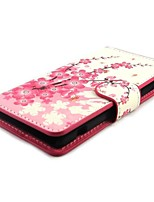 Plum Blossom Wallet PU de couro com tampa do suporte Case for Sony Xperia mini-Z1 Compact D5503