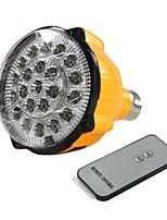 E27 4W LED Blanc Ampoule rechargeable d'urgence Lampe de poche projecteur avec télécommande