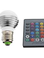 3W E26/E27 Lâmpada Redonda LED 1 LED de Alta Potência 240 lm RGB AC 220-240 V