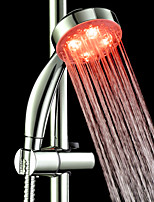 Contemporary Hand Shower Chrome Feature for  LED Rainfall Eco-friendly , Shower Head