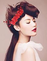Moda Novia imitación de la perla flor del tocado