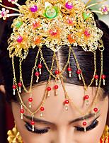כיסוי ראש זהב הסיני אלגנטים לחתונות