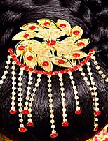 Elegantní čínská zlatá čelenka pro svatby
