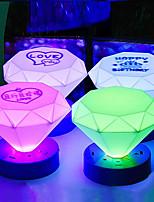Night Light Cone Forma Colorido ABS LED (color al azar)