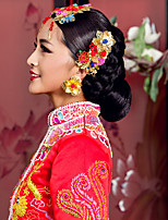 elegante cocar de ouro chinesa para casamentos