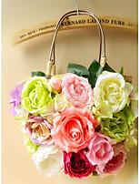 Women's Flower Basket Shape Tote Bag