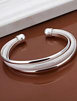 Fashion Bevel Edge Shaped Silver Plating Mesh Bracelet Geometric Modelling Silver Adjustable Bracelet(Silver)(1Pc)