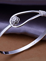 Roses shedding Fashion Bracelet Gift Vintage/Cute/Party/Work/Casual Silver Plated Cuff Bracelet