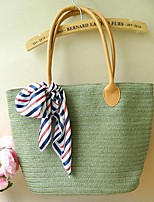 Women's Basic Color Silk Knot Tote Bag