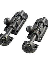 11.6cm * 3.3cm Retro Black Reines Kupfer By Hand Färben Türriegel