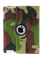 Kinston 360 graus Rotatable Camouflage Pattern PU Leather Case Full Body com suporte para iPad 2/3/4