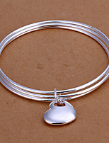 The three layer circle superimposed heart-shaped pendant bracelet gift Vintage/Cute/Party/Work/Casual Silver Plated Cuff