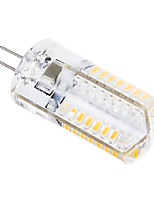 G4 3 W 64 SMD 3014 448 LM Warm White / Cool White T Corn Bulbs AC 220-240 V