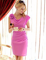 Pink Doll Elegant Sleeveless Slimming Dress