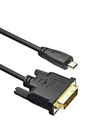 LWM™ Premium Type D Micro HDMI to DVI D Male Cable 3Ft 1M for 1080P Smartphone Tablet Kindle Fire HD