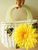 Women's Hook Sunflower Woven Tote Bag