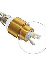3W E14 Lâmpada Redonda LED 6 SMD 5730 300 lm Branco Quente AC 220-240 V