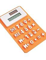 calculatrice de silicone créatif énergie solaire calculatrice magnétique (10,5 * 6,5 * 0,78)