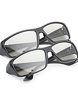 m&k geral luz polarizada modelada retarder engrossar óculos 3D para cinema e televisão (2pcs)