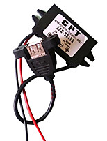 Mini DC-DC 12V to 5V Step Down Converter DC Motorcycle Buck Converter Power Supply Module Interface with Resistance