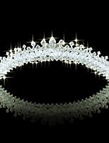 lureme®bridal calidad del banquete de boda de cristal austriaco brillante tiara peine