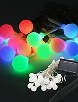 Stringa leggiadramente 20-led solare sfera di potere forma del bulbo della lampada della luce 9m per la decorazione