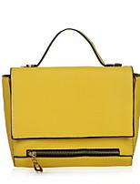 Women PU Flap Shoulder Bag / Tote - Green / Yellow
