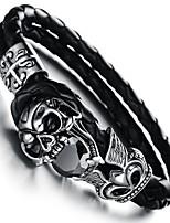 Retro Devil Skull Rock Men's Charm Stainless Steel  Bracelet (1 Pc)