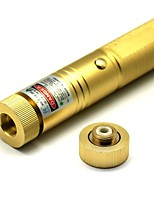 LT-303 Zoom Luz Jogo Green Laser Pointer (4MW, 532nm, 1x18650, Golden)