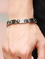 Black Gallstone Anti-fatigue Titanium Steel Health Care Bracelet for Men