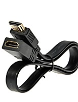 LWM™ Premium High Speed HDMI Male to Female Flat Cable 1.5Ft 0.5M V1.4 for HD 1080P 3D PS3 DVD Bluray