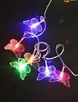 Los 5M 40-LED Multicolor Luz Butterfly Wedding Party lámpara de la secuencia de la Navidad (220)