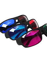 Reedoon Red Blue/Green Red/Blue Brown 3D Glasses for TV Computer (4Pcs)