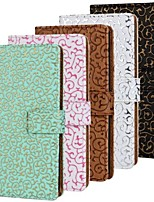 Hollow Pattern PU Leather Full Body Case with Stand and Card Slot for Sony Xperia Z2