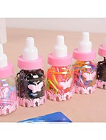 Lash Hair Bands Bottled Milk Candy Color Small Rubber Bands (1 Bottle)