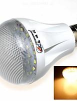 7W E26/E27 Lâmpada Redonda LED 27 SMD 2835 600 lm lm Branco Quente AC 85-265 V